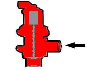 Abgasrückführventil / Schnittzeichnung